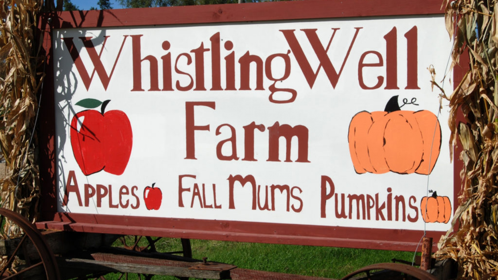 Whistling Well Farm Sign
